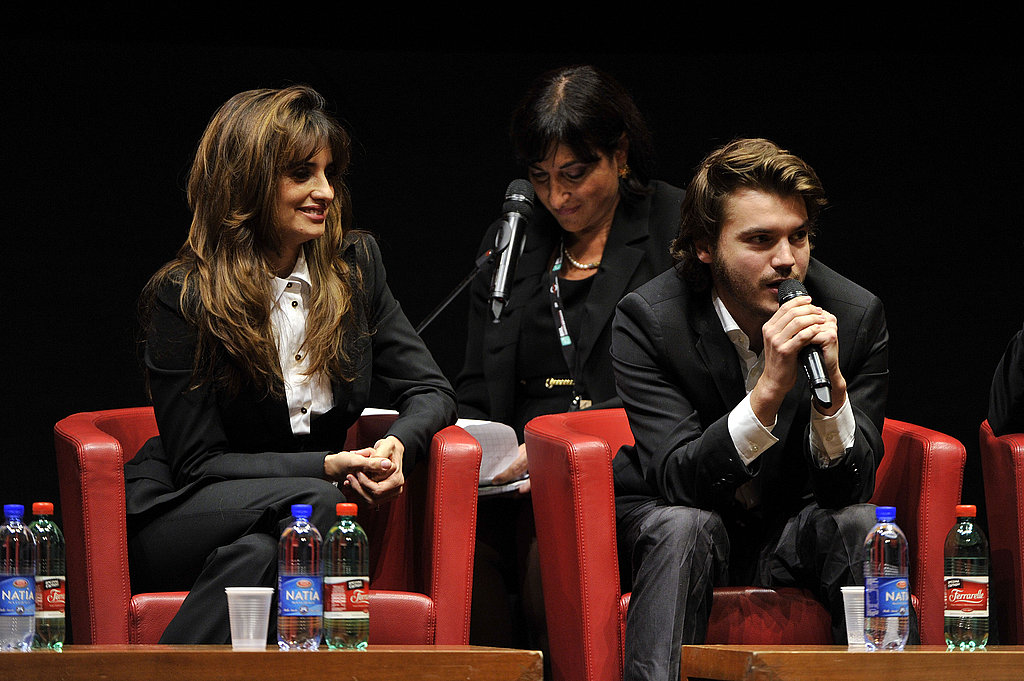 An Italian translator sat behind Emile and Penelope.