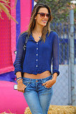 Alessandra Ambrosio showed off her midriff in LA.