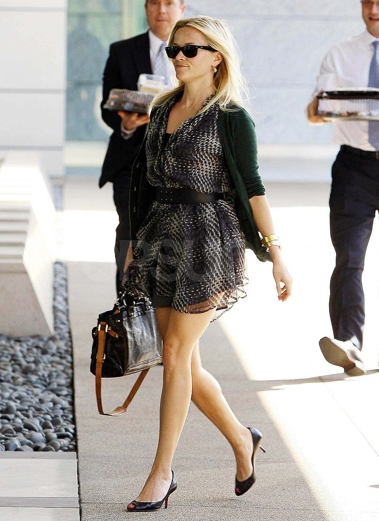 Reese Witherspoon in a dress in LA.