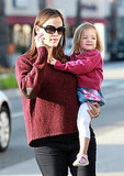 Jennifer Garner carries Seraphina in LA.