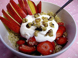 Maple Quinoa With Greek Yogurt and Fruit