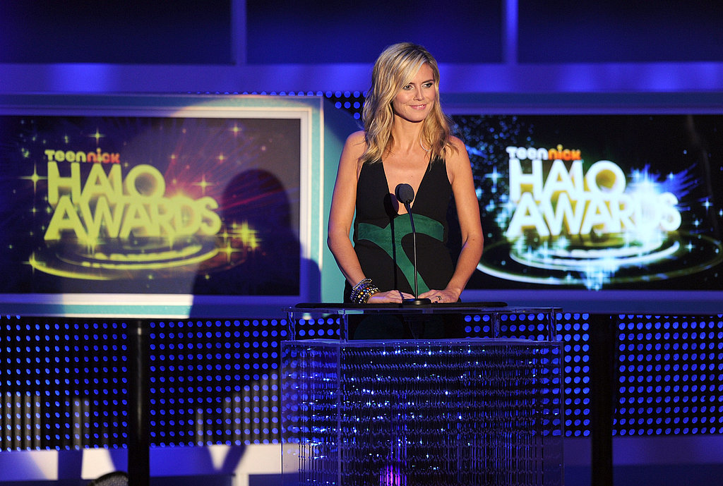 Heidi Klum took her spot behind the mic at the Halo Awards.