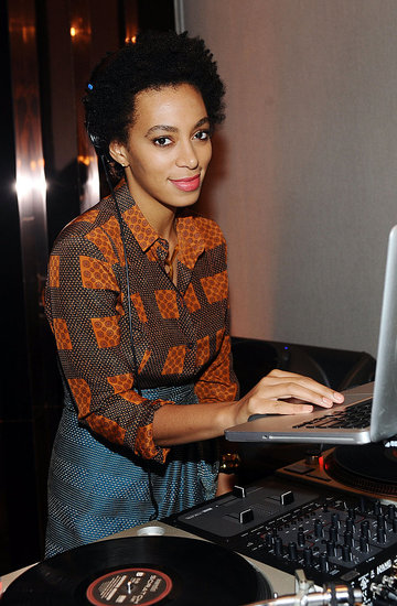 Solange Knowles was the Burberry Body party's DJ.