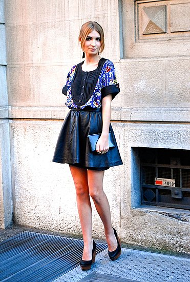A voluminous version on the streets of Milan Spring 2012 Fashion Week.  Shop the look: Photo Courtesy of Stylesight