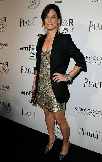 Sandra Bullock at the 2011 amfAR Inspiration Gala.