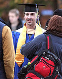 Shia looked scholarly in his cap and gown.