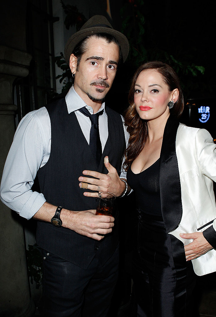 Rose McGowan said hi to Colin Farrell.