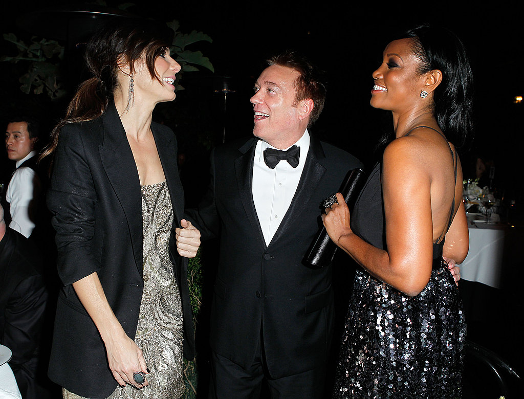 Sandra Bullock chatted with Kevin Huvane and Garcelle Beauvais.