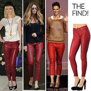 Red Leather Pants Fall 2011