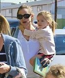 Jennifer Garner takes Violet and Seraphina to ballet class.