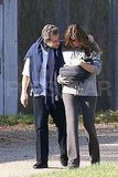 Carla Bruni and Nicolas Sarkozy showed little Giulia Sarkozy the sunshine.