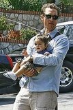 Matthew McConaughey carried Levi in his arms while leaving a Hollywood hotel in April 2009.