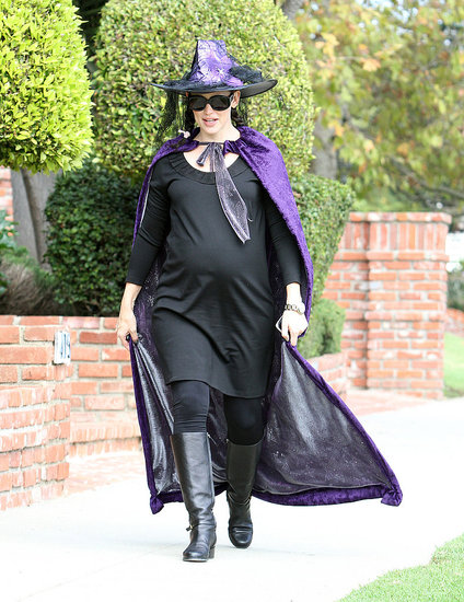 Jennifer Garner Dresses Her Bump in a Witchy Costume