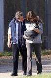 Carla Bruni and Nicolas Sarkozy got fresh air with baby daughter Giulia Sarkozy.
