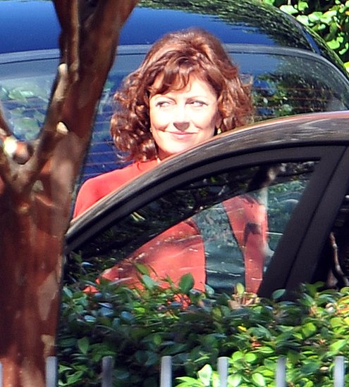 Susan Sarandon arrives at her daughter's wedding.