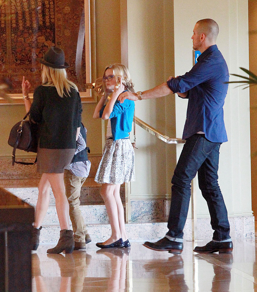 Reese Witherspoon, Jim Toth, Deacon Phillippe, Ava Phillippe went to church together.