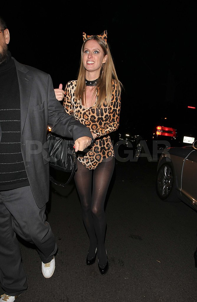 Nicky Hilton played the part of a sexy cat for a friend's party in LA in 2011.