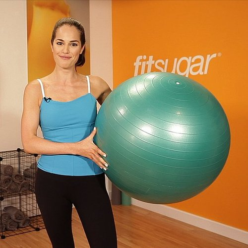 Ab Exercise: Tuck Crunch on Exercise Ball