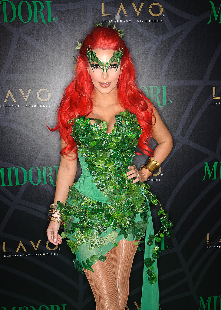 Ahead of the news that Kim Kardashian and Kris Humphries are divorcing, Kim attends a Halloween party dressed as the dangerously sexy Poison Ivy.