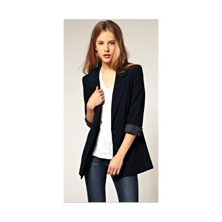 Every girl needs a boyfriend blazer — the long, lean shape looks great with rolled cuffs and a crisp button-down shirt. ASOS Boyfriend Blazer (approx $90)