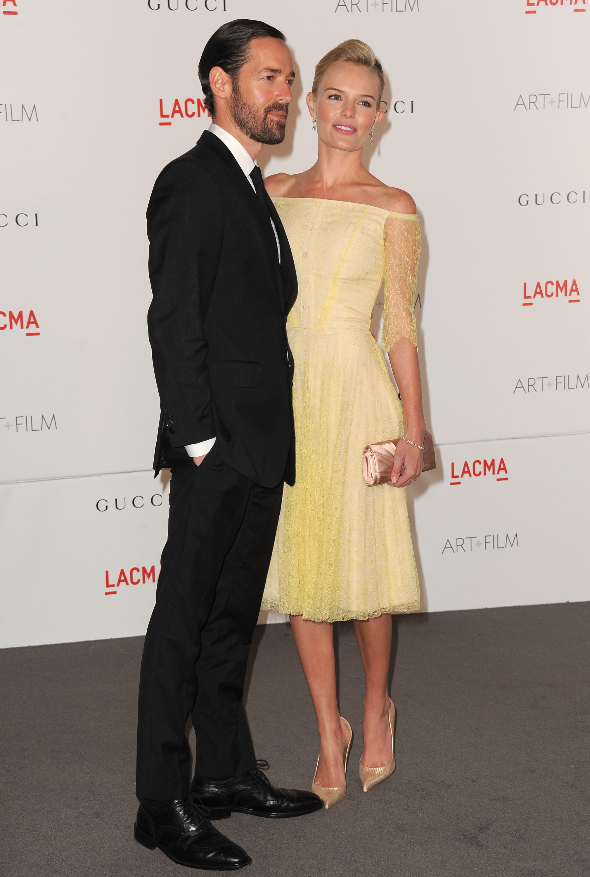 Kate Bosworth with boyfriend Michael Polish.