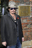 Johnny Depp in Oxford, England.