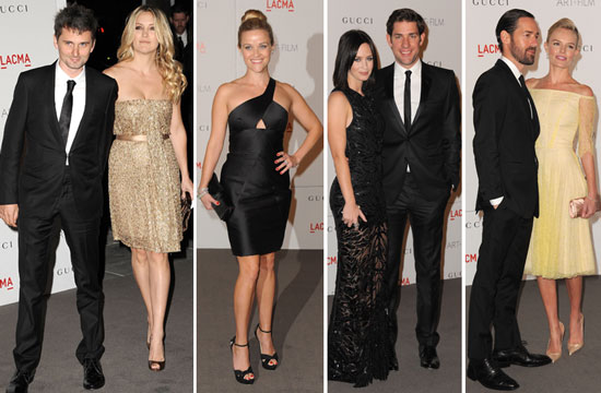 Hot Reese Joins Hollywood Couples Kate and Matt, John and Emily at LACMA's A-List Bash