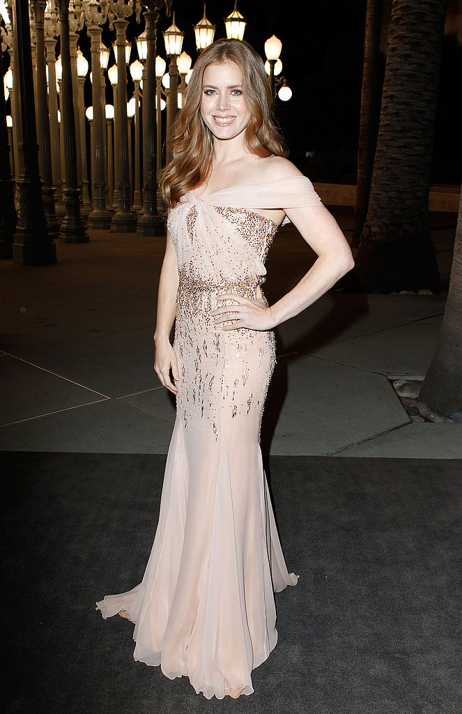 Amy Adams in a gauzy gown.