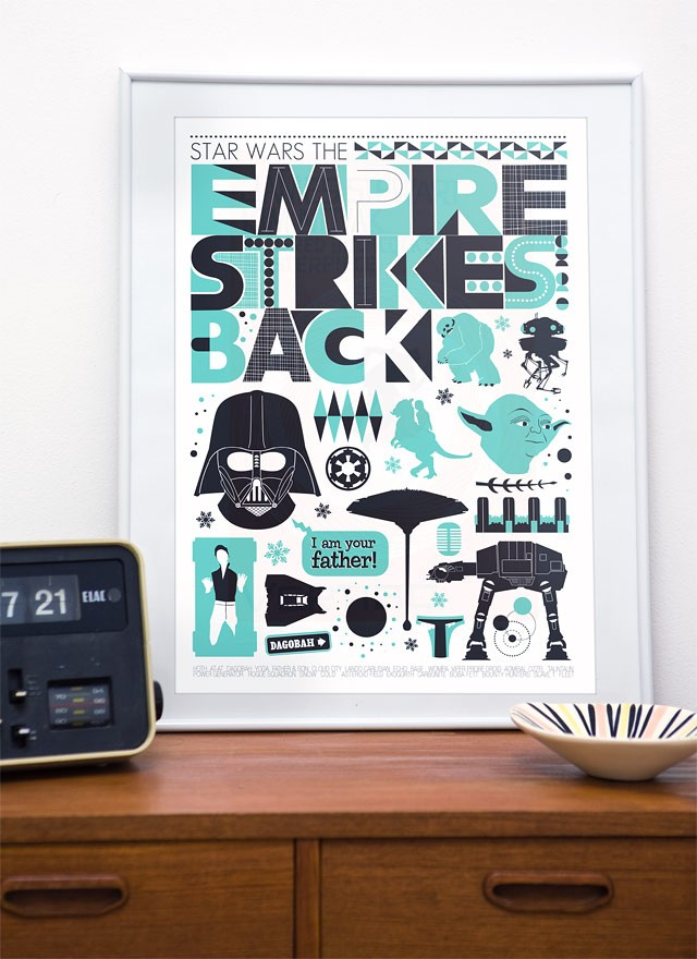 Retro Star Wars Print For Baby