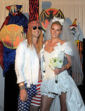 "Axl Rose and Stephanie Seymour Adam Levine and Anne Vyalitsyna drew inspiration from the classic Guns N' Roses video for ""November Rain."""