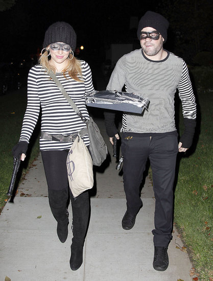 Hilary Duff brought some baked goods to a Halloween party with Mike Comrie.