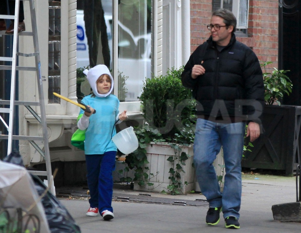 Matthew Broderick took James Wilkie Broderick trick-or-treating.
