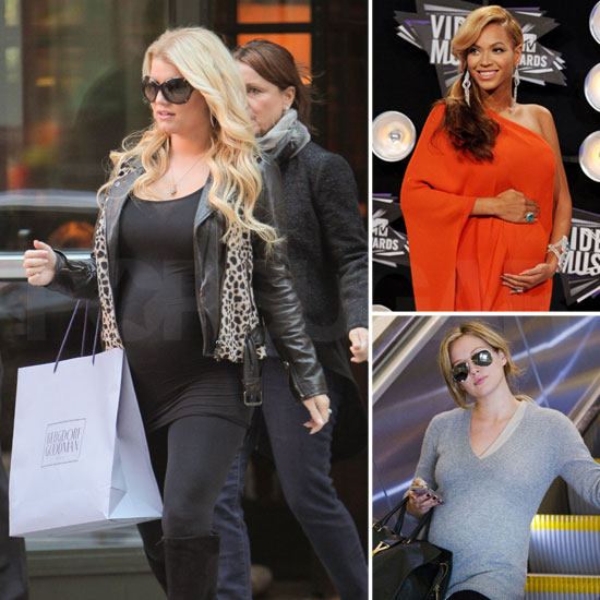 See All the Pregnant Stars — Jessica, Beyoncé, Hilary, Keri, and ...