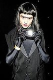 Crystal Renn showed off her dark side at V Magazine's Halloween party in 2011.