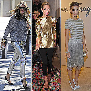 Celebrities Wearing Metallics Fall 2011