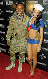 Tyson Bedford and Shanina Shaik are sexy as a soldier and a sailor.
