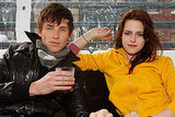 Yellow Handkerchief co-stars Eddie Redmayne and Kristen Stewart hung out in Park City, Utah, in 2008.