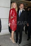 Blake Lively escorted Christian Louboutin out of his NYC party.