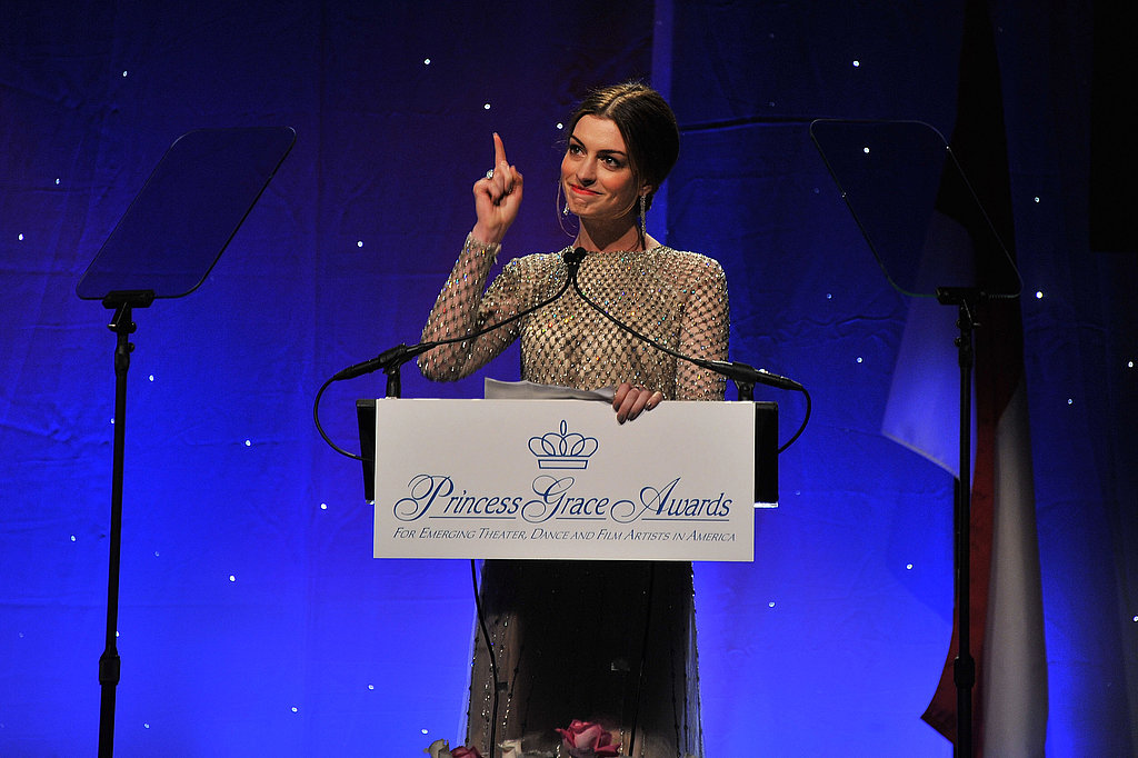 Anne Hathaway spoke at the 2011 Princess Grace Awards Gala.