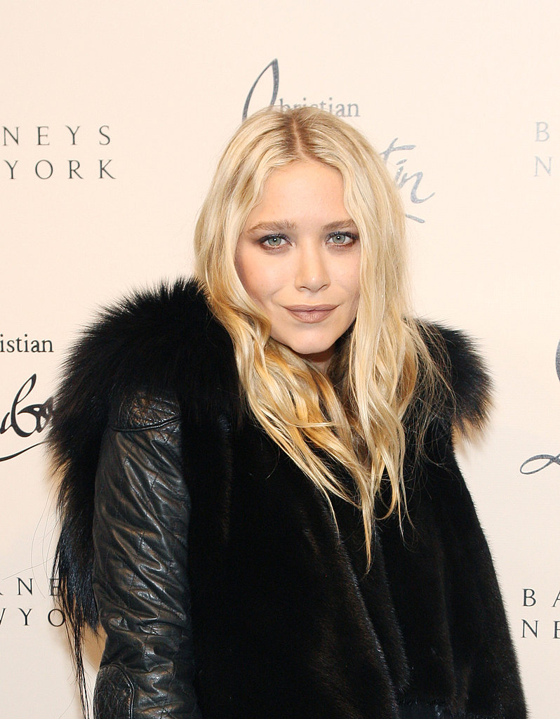 Mary-Kate Olsen wore a fur vest in NYC.