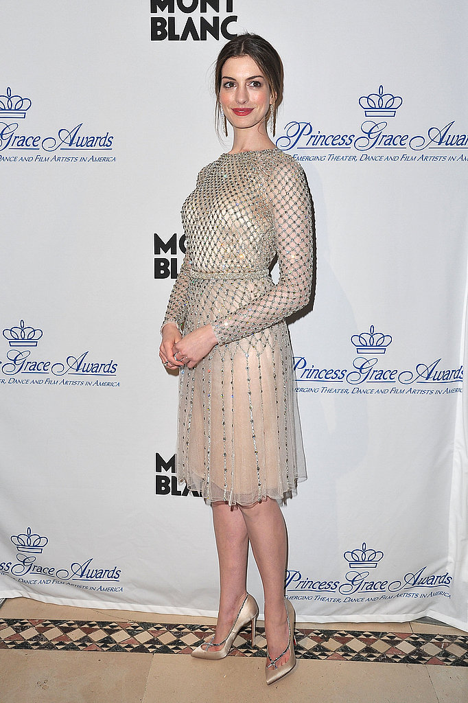 Anne Hathaway looked prim and proper for the 2011 Princess Awards Gala in NYC.