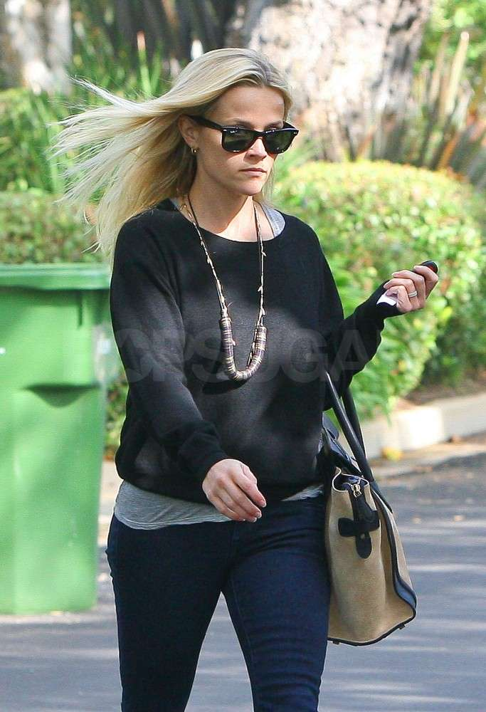Reese Witherspoon crossed the street in LA.
