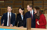 William and Kate pose with Denmark's Crown Princess Mary and Crown Prince Frederik of Denmark.