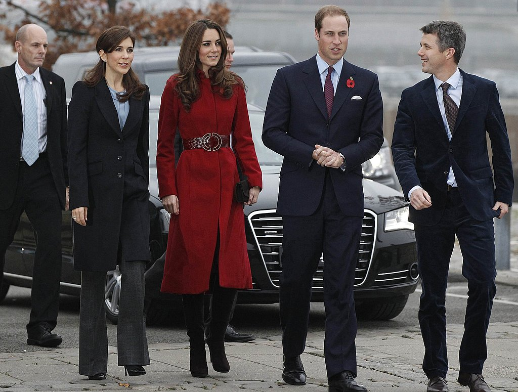 The four royals visit a UNICEF center.
