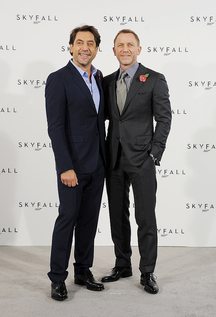 Daniel Craig and Javier Bardem posed together for Skyfall.
