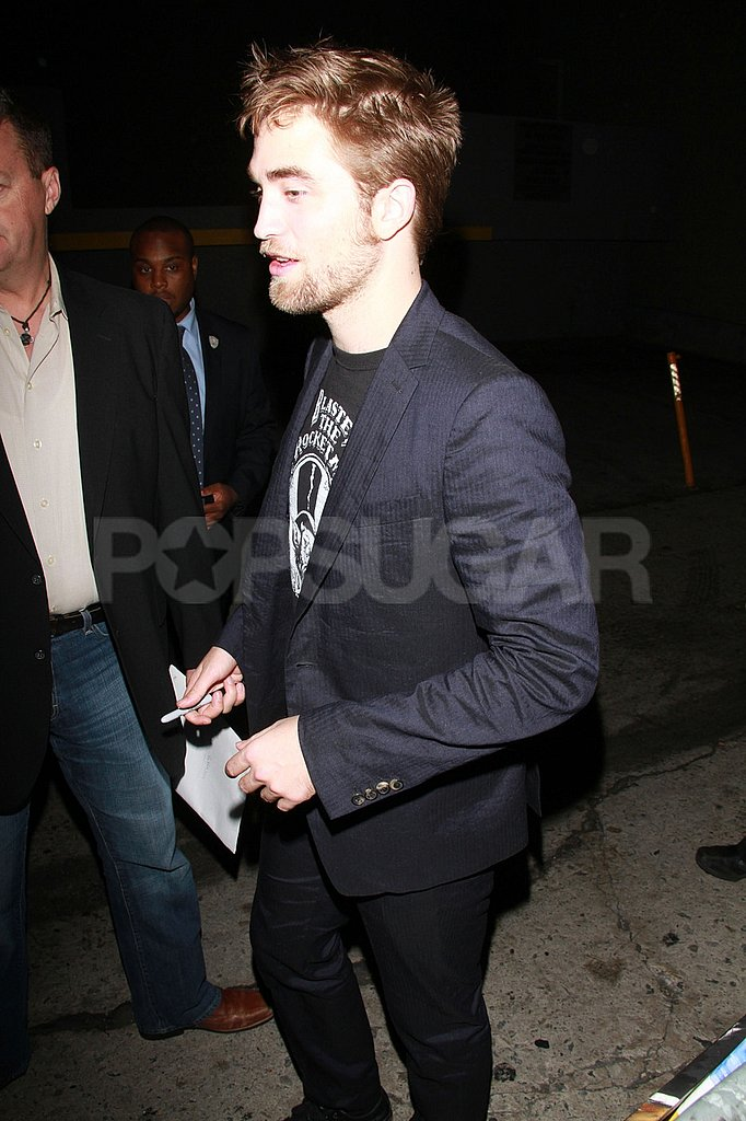 Robert Pattinson in a blazer.