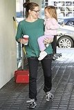 Jennifer Garner and Seraphina Affleck stop at Starbucks in LA.