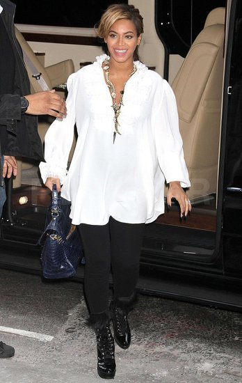 Beyoncé Gets Back to Work in Bright White