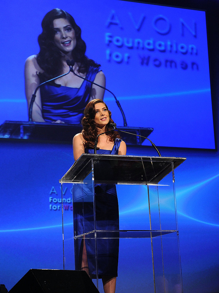 Ashley Greene spoke at the event.