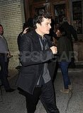 Orlando Bloom left dinner in NYC.